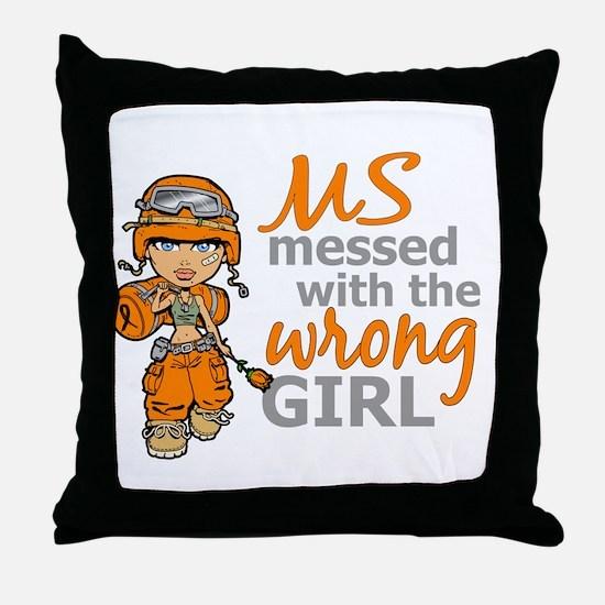 Combat Girl MS Throw Pillow