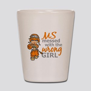 Combat Girl MS Shot Glass