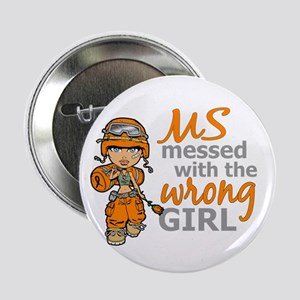 """Combat Girl MS 2.25"""" Button"""