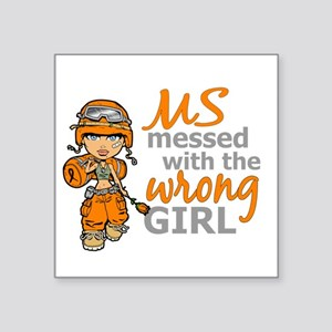 "Combat Girl MS Square Sticker 3"" x 3"""