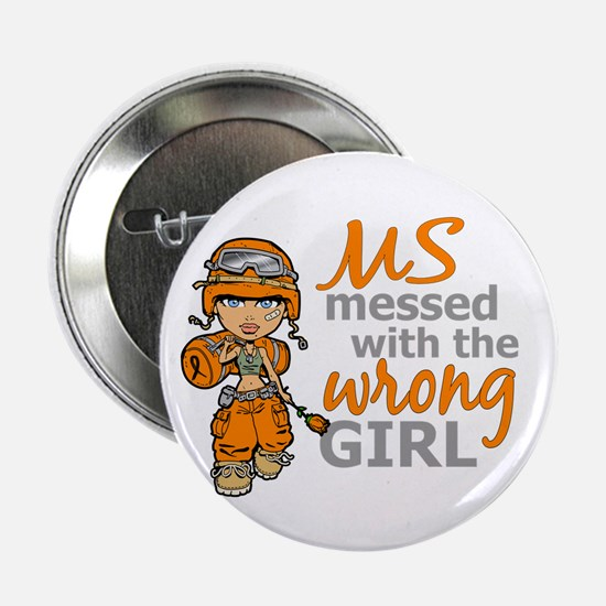 """Combat Girl MS 2.25"""" Button (10 pack)"""