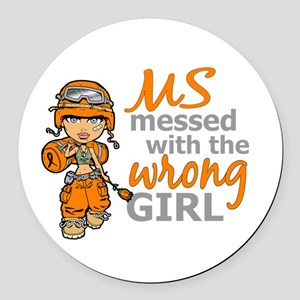 Combat Girl MS Round Car Magnet
