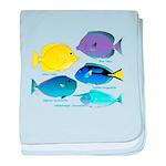 5 Unicornfish Surgeonfish c baby blanket