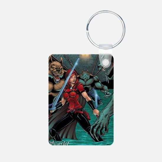 Scarlet Huntress vs Werewo Aluminum Photo Keychain