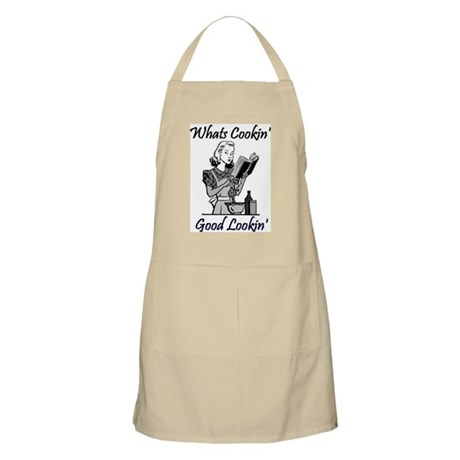 Funny BBQ Apron-Whats Cookin Good Lookin?