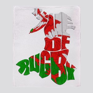 Wales Home Of Rugby Throw Blanket