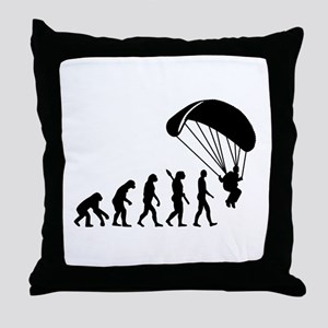 Evolution Skydiving Throw Pillow