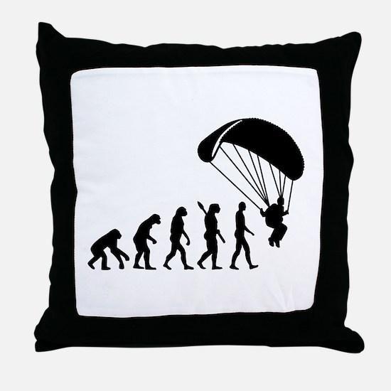 Evolution Skydiving Throw Pillow