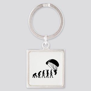 Evolution Skydiving Square Keychain