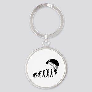 Evolution Skydiving Round Keychain