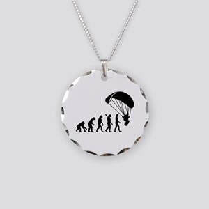Evolution Skydiving Necklace Circle Charm