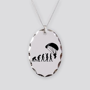 Evolution Skydiving Necklace Oval Charm
