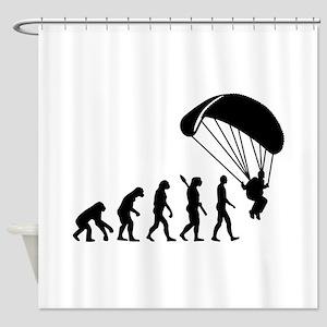 Evolution Skydiving Shower Curtain