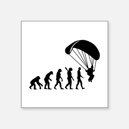 "Evolution Skydiving Square Sticker 3"" x 3"""