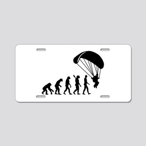 Evolution Skydiving Aluminum License Plate