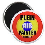 "Plein Air Painter on Duty 2.25"" Magnet (100 p"