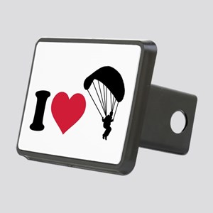 I love Sky diving Rectangular Hitch Cover