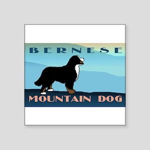 Bernese Blue Mountain Rectangle Sticker