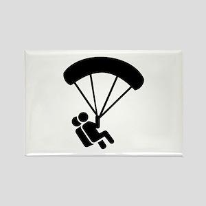 Skydiving tandem Rectangle Magnet