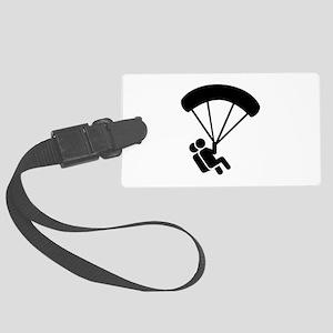 Skydiving tandem Large Luggage Tag