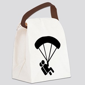 Skydiving tandem Canvas Lunch Bag