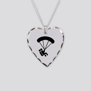 Skydiving tandem Necklace Heart Charm