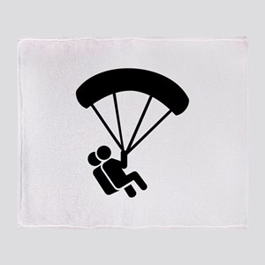Skydiving tandem Throw Blanket