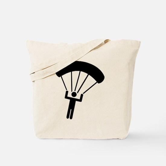 Skydiving icon Tote Bag