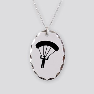 Skydiving icon Necklace Oval Charm