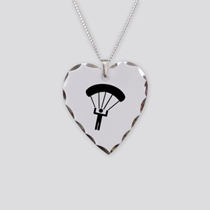 Skydiving icon Necklace Heart Charm