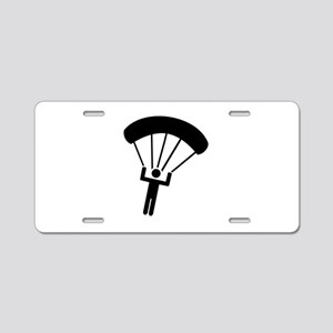 Skydiving icon Aluminum License Plate