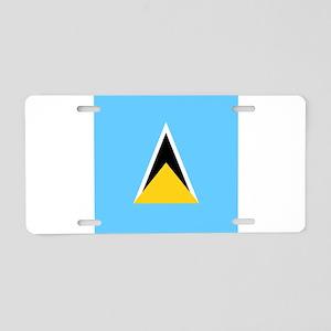 Flag of Saint Lucia Aluminum License Plate