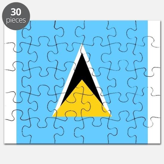 Flag of Saint Lucia Puzzle