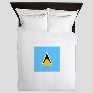 Flag of Saint Lucia Queen Duvet
