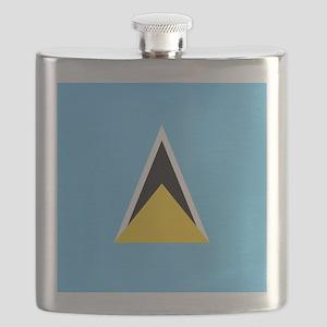Flag of Saint Lucia Flask