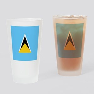 Flag of Saint Lucia Drinking Glass
