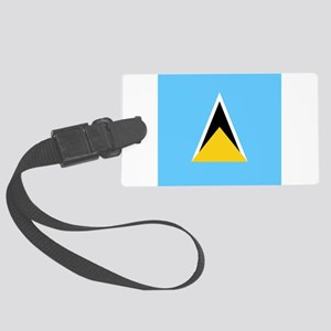 Flag of Saint Lucia Large Luggage Tag