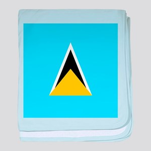 Flag of Saint Lucia baby blanket
