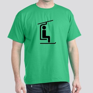Ski Chairlift Dark T-Shirt