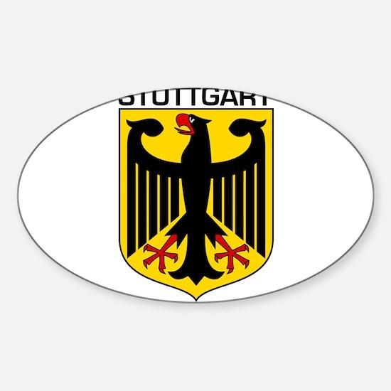 Stuttgart, Germany Oval Decal