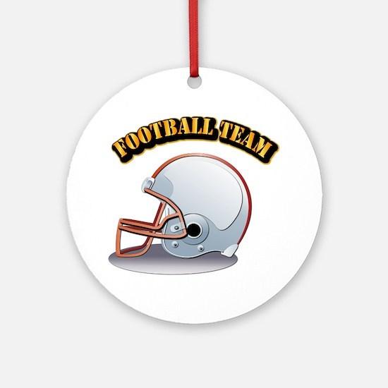 Football Team Ornament (Round)