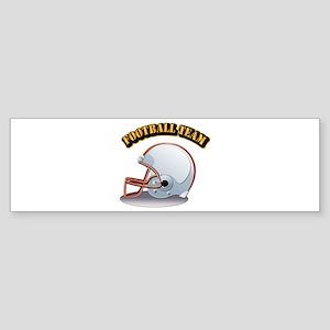 Football Team Sticker (Bumper)