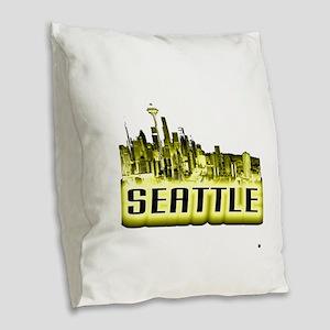 Seattle Burlap Throw Pillow