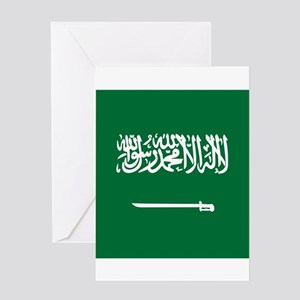 Flag of Saudi Arabia Greeting Cards