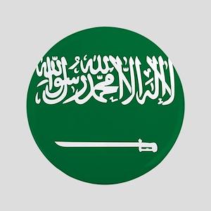 "Flag of Saudi Arabia 3.5"" Button"
