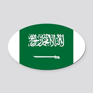 Flag of Saudi Arabia Oval Car Magnet