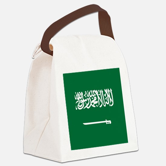 Flag of Saudi Arabia Canvas Lunch Bag