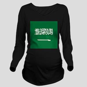 Flag of Saudi Arabia Long Sleeve Maternity T-Shirt