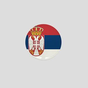 Flag of Serbia Mini Button