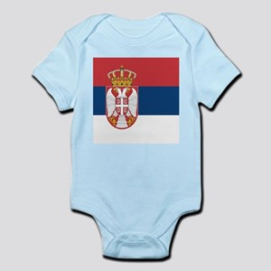 Flag of Serbia Body Suit